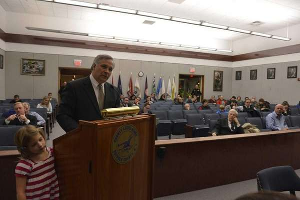Members of the Suffolk County Legislature met to