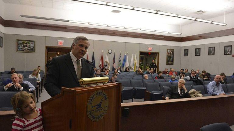 Members of the Suffolk County Legislature met to