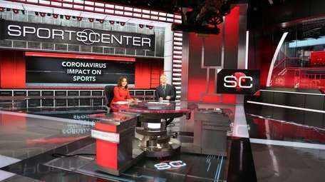 Toni Collins and David Lloyd on the ESPN