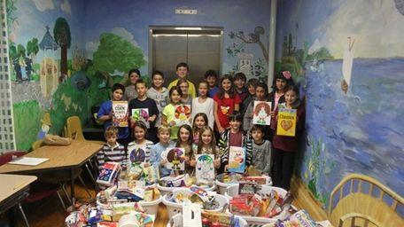 "Locust Valley Intermediate School students collected ""more food"