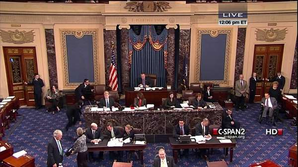 This handout video image provided by CSPAN2 shows