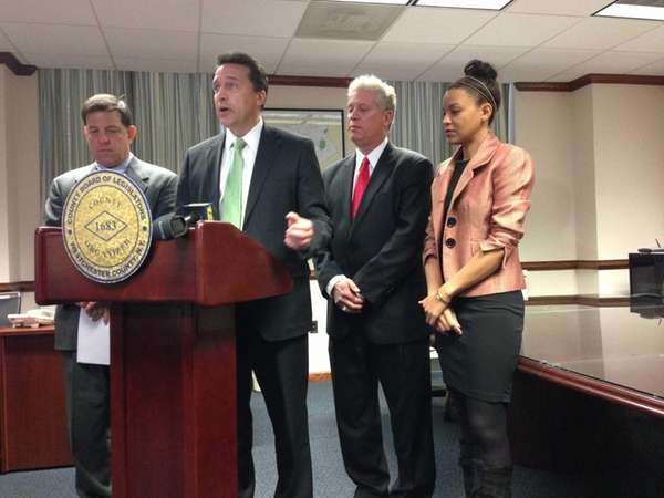 Westchester County legislators announce a bipartisan budget during
