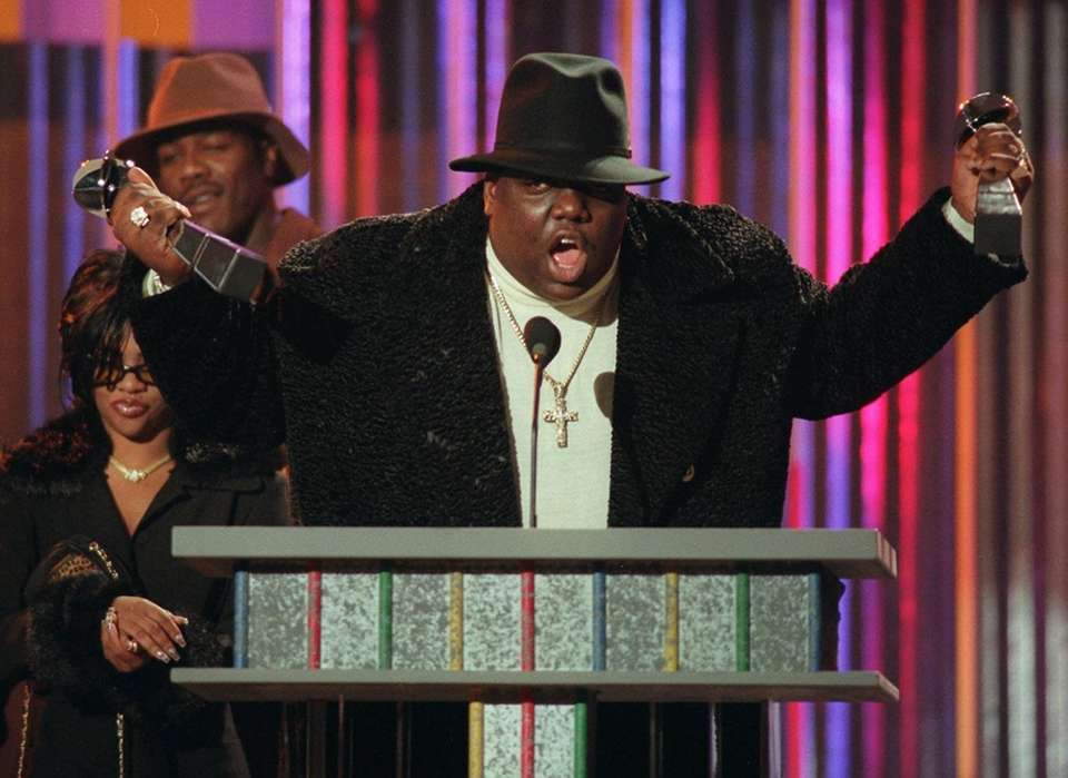 Stage name: Notorious B.I.G. Birth name: Christopher Wallace