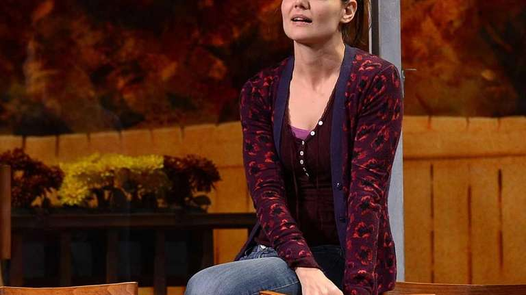 Katie Holmes performs during the