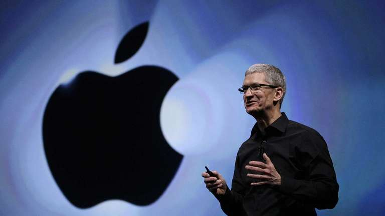 Apple CEO Tim Cook speaks following an introduction