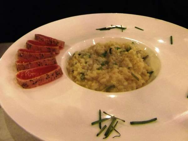 Crusted tuna with risotto at The Phoenix in