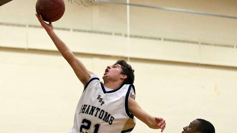 Bayport's Dylan Adams takes the steal in for