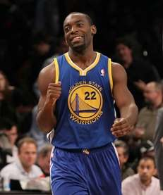 Charles Jenkins of the Golden State Warriors celebrates