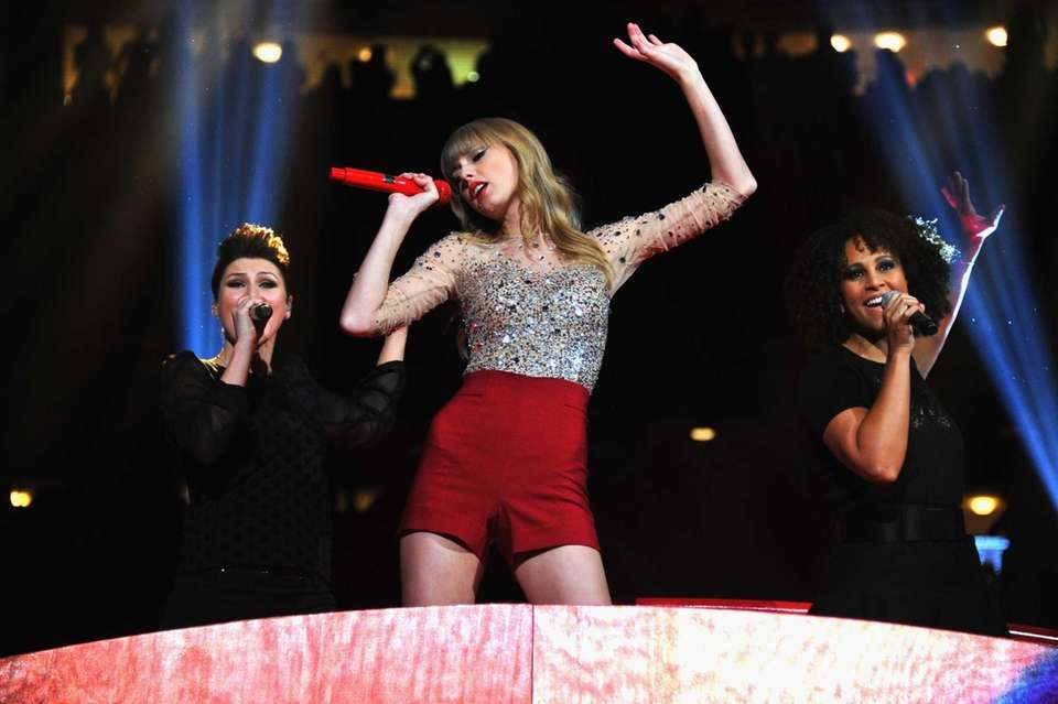 Taylor Swift performs onstage during Z100's Jingle Ball