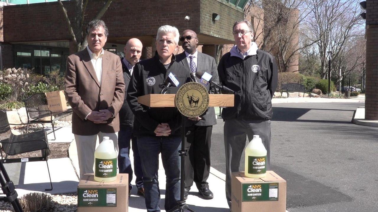 SuffolkCounty ExecutiveSteve Belloneand state Sen.JimGaughran (D-Northport) brought NYS