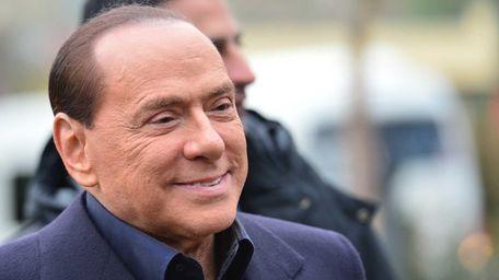 Former Italian Prime Minister Silvio Berlusconi, arrives at