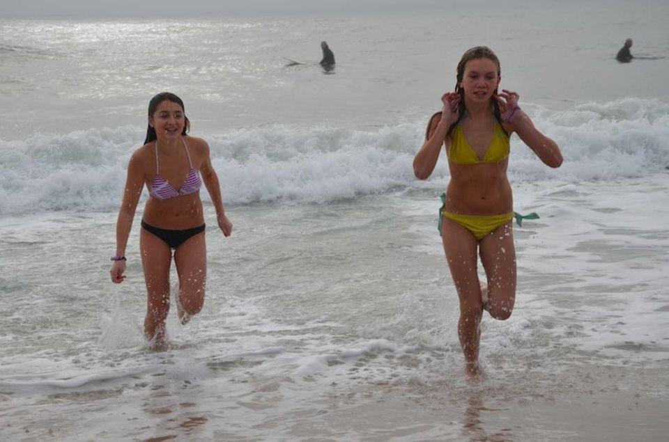 Karmen Friedman, 13, and her friend Samantha Wesnofske,