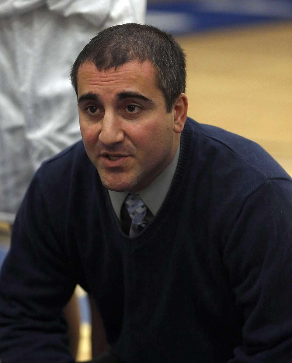 Riverhead girls varsity basketball head coach David Spinella