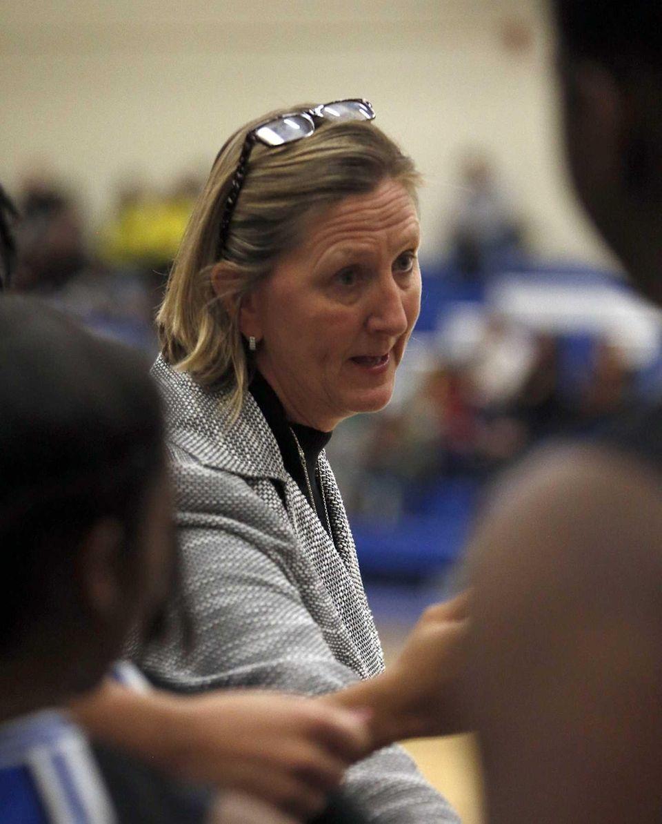 Copiague girls varsity basketball head coach DCarole