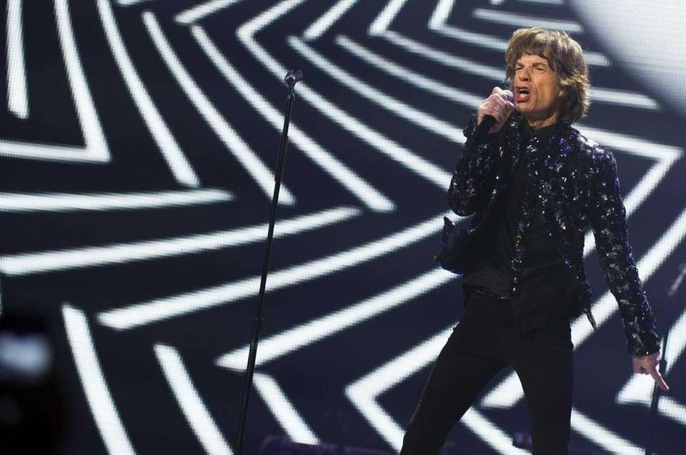 Mick Jagger of the Rolling Stones performs in