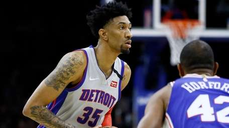 The Pistons' Christian Wood played against Rudy Gobert