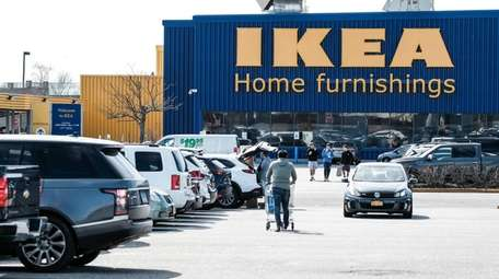The Ikea store in HIcksville on Saturday.