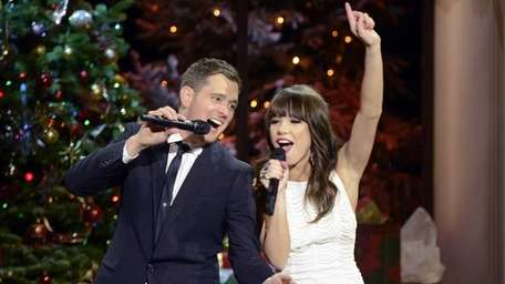 Michael Buble, left, and Carly Rae Jepsen in