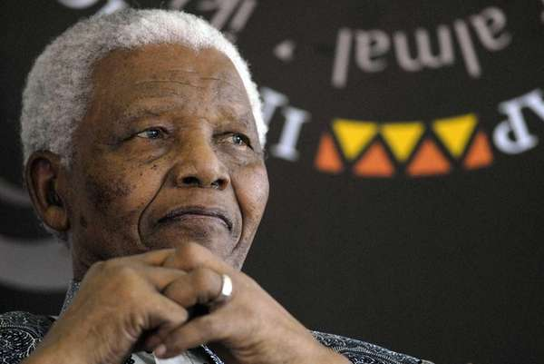 Former South African president Nelson Mandela at his