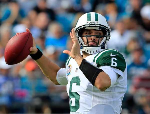 Mark Sanchez attempts a pass during a game