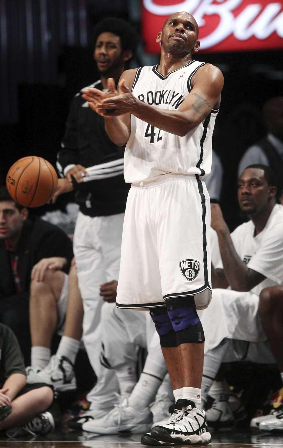 Brooklyn Nets' Jerry Stackhouse reacts after losing the