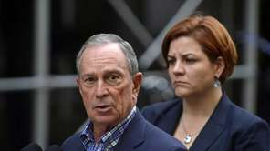 Mayor Michael Bloomberg photographed with City Council Speaker