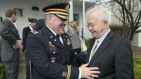 Kenneth Storz, a retired U.S. Army Reservist, talks
