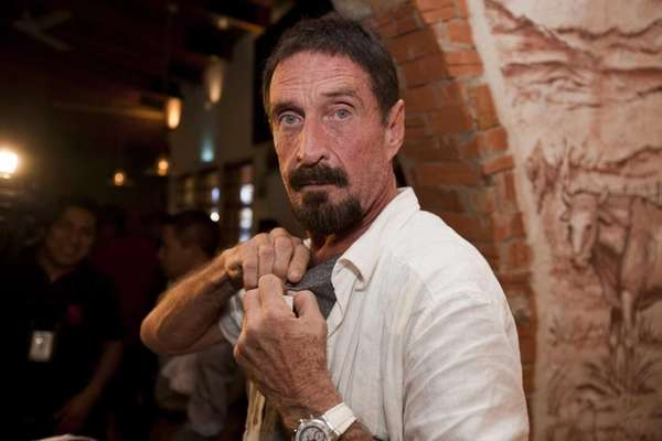 John McAfee, who founded and sold the McAfee