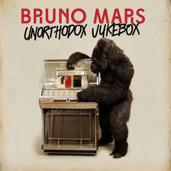 "Bruno Mars album art cover for ""Unorthodox Jukebox."""