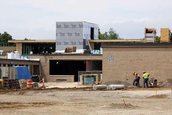 Construction work on Roosevelt High School. (June 18,