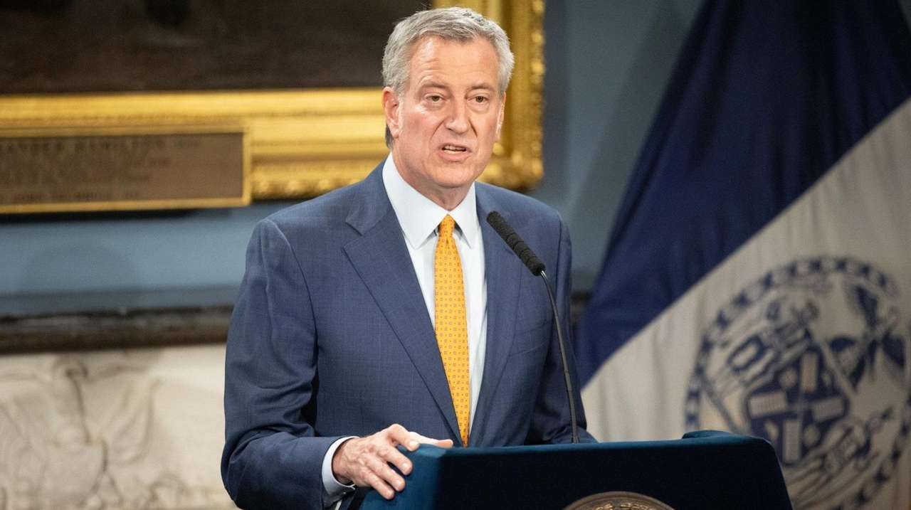 On Sunday New York City Mayor Bill de