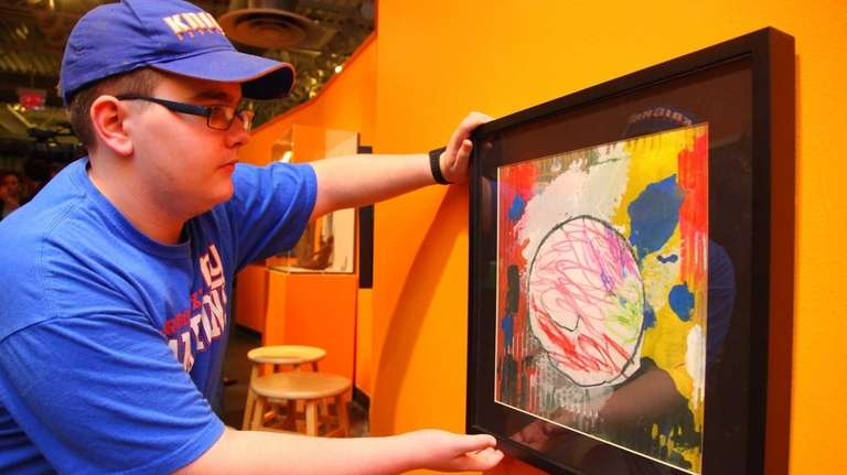 Nicholas Kruger has his art on display at