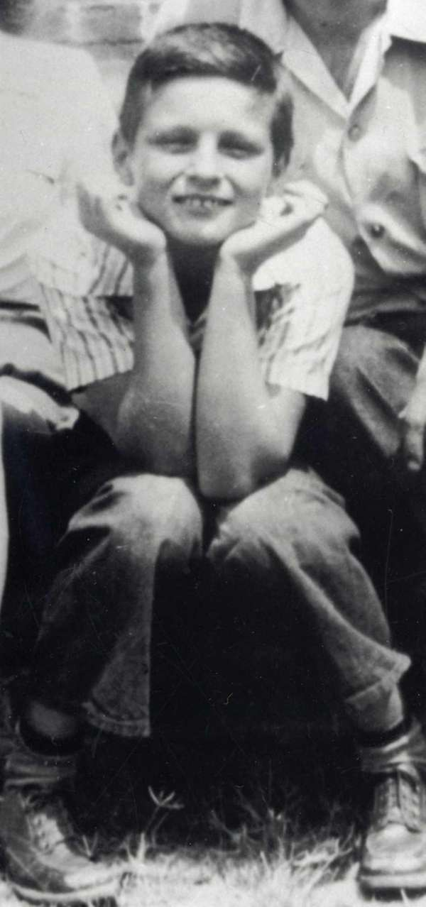 Alan Alda at 11 years old, in 1947.