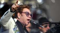 Elton John performs at Mission Estate on Feb.