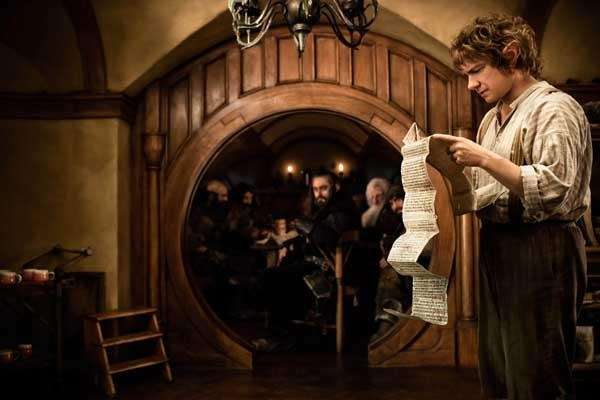 Martin Freeman as Bilbo Baggins in a scene