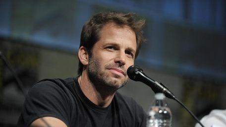 Director Zack Snyder speaks at the