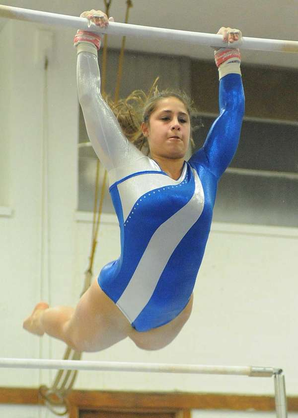 Plainview JFK's Victoria Vitale performs her routine on