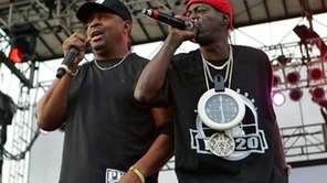 Chuck D, left, and Flavor Flav of Public
