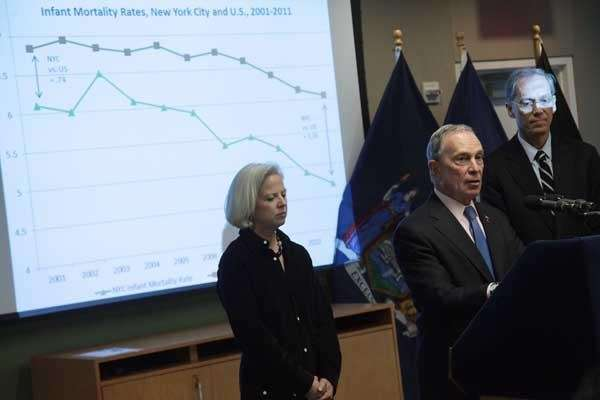Bloomberg announces improvements in NYC life expectancy, infant