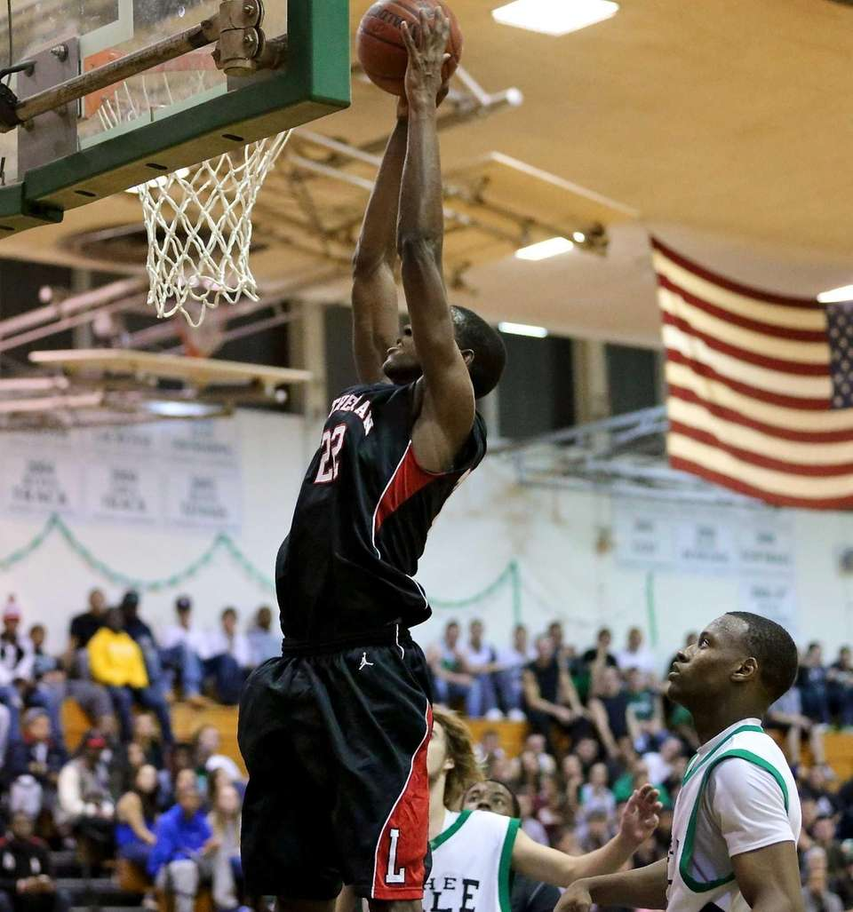 Lutheran's Kenton Facey goes up for a dunk