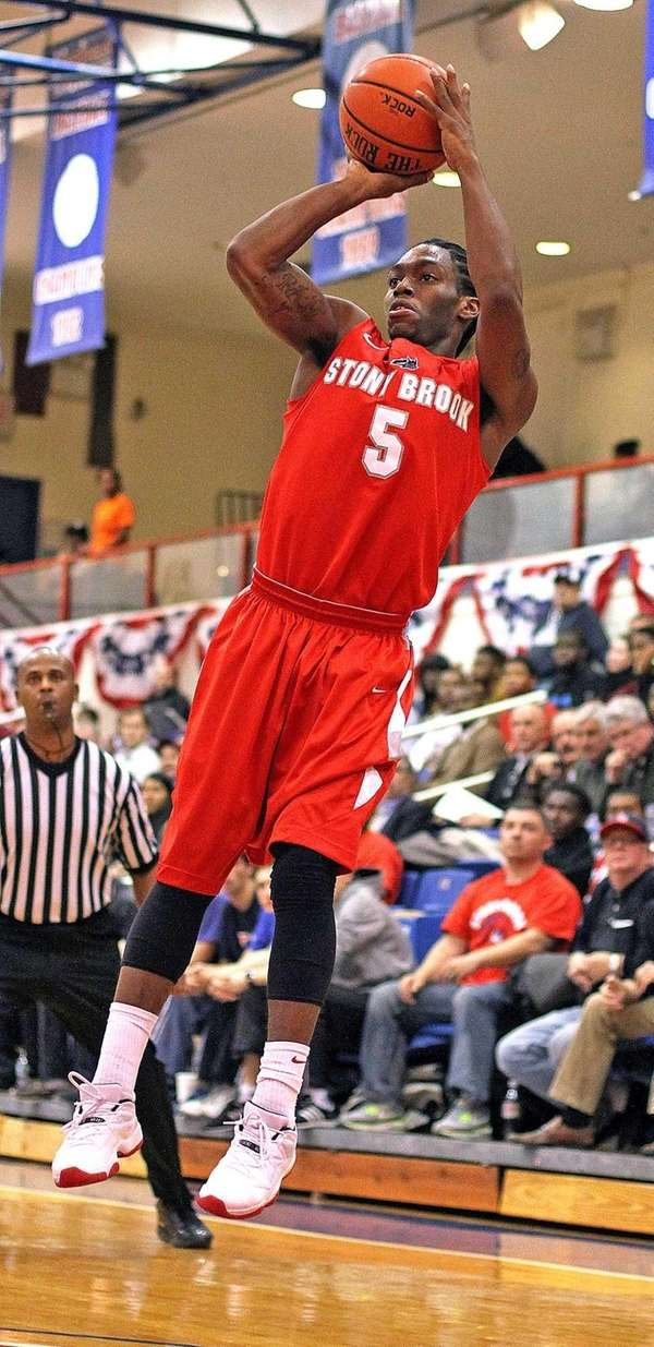 Stony Brook's Dave Coley puts up a shot.
