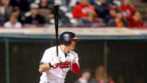 Cleveland Indians outfielder Shin-Soo Choo bats against the