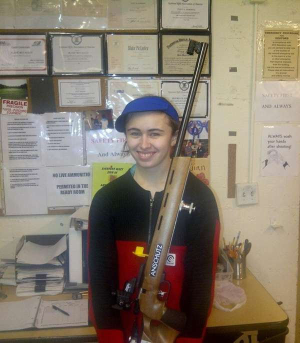 Valley Stream District riflery star Danielle Cuomo after