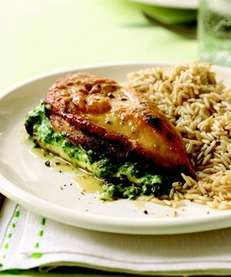 The Spinach and Cheese-Stuffed Chicken recipe can be