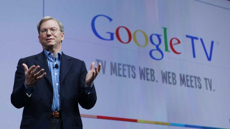 Google CEO Eric Schmidt speaks at the Google