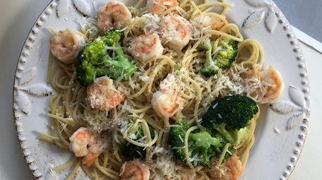 Dinnerly's shrimp scampi.