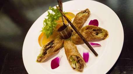 The duck tortilla, bringing to mind Peking duck,
