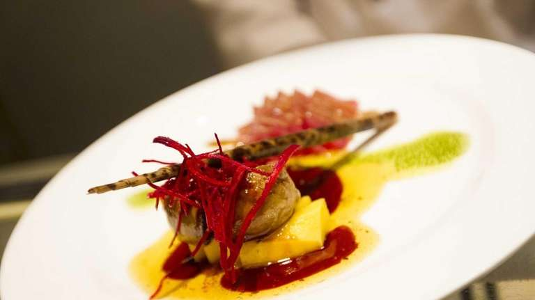 Kushi Japanese Fusion's tuna foie gras, served with