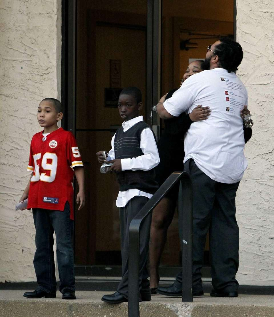 Mourners attend the wake for Kansas City Chiefs