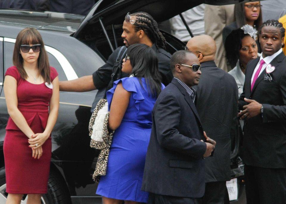Kansas City Chiefs player Jamaal Charles, far right,